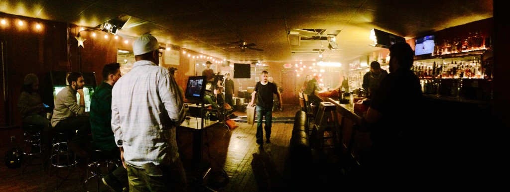 Bar scene of short film, Three Fingers.